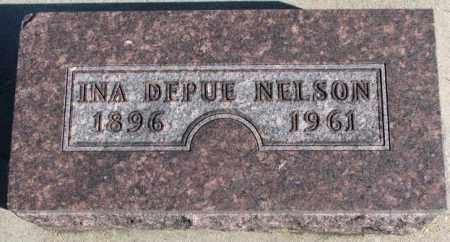 NELSON, INA DEPUE - Cedar County, Nebraska | INA DEPUE NELSON - Nebraska Gravestone Photos