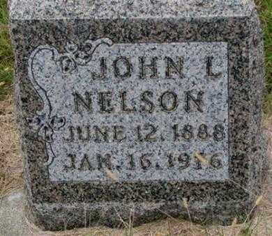 NELSON, JOHN L. - Cedar County, Nebraska   JOHN L. NELSON - Nebraska Gravestone Photos