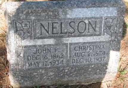 NELSON, JOHN F. - Cedar County, Nebraska   JOHN F. NELSON - Nebraska Gravestone Photos