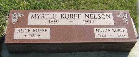 NELSON, MYRTLE - Cedar County, Nebraska | MYRTLE NELSON - Nebraska Gravestone Photos