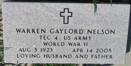 NELSON, WARREN GAYLORD - Cedar County, Nebraska | WARREN GAYLORD NELSON - Nebraska Gravestone Photos