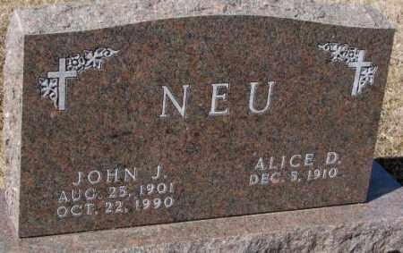 NEU, JOHN J. - Cedar County, Nebraska | JOHN J. NEU - Nebraska Gravestone Photos