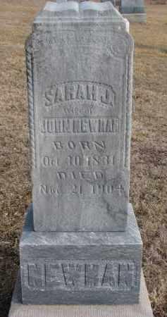 NEWMAN, SARAH J. - Cedar County, Nebraska | SARAH J. NEWMAN - Nebraska Gravestone Photos