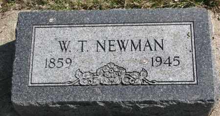 NEWMAN, W.T. - Cedar County, Nebraska | W.T. NEWMAN - Nebraska Gravestone Photos