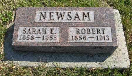 NEWSAM, SARAH E. - Cedar County, Nebraska | SARAH E. NEWSAM - Nebraska Gravestone Photos