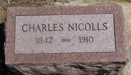 NICOLLS, CHARLES - Cedar County, Nebraska | CHARLES NICOLLS - Nebraska Gravestone Photos
