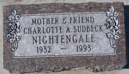 SUDBECK NIGHTENGALE, CHARLOTTE A. - Cedar County, Nebraska | CHARLOTTE A. SUDBECK NIGHTENGALE - Nebraska Gravestone Photos