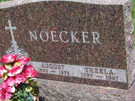 NOECKER, AUGUST - Cedar County, Nebraska | AUGUST NOECKER - Nebraska Gravestone Photos