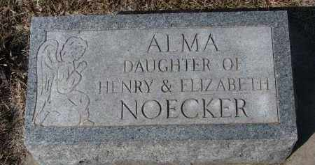 NOECKER, ALMA - Cedar County, Nebraska | ALMA NOECKER - Nebraska Gravestone Photos