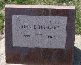 NOECKER, JOHN E. - Cedar County, Nebraska | JOHN E. NOECKER - Nebraska Gravestone Photos