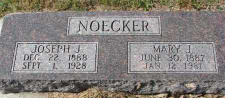 NOECKER, JOSEPH J. - Cedar County, Nebraska | JOSEPH J. NOECKER - Nebraska Gravestone Photos