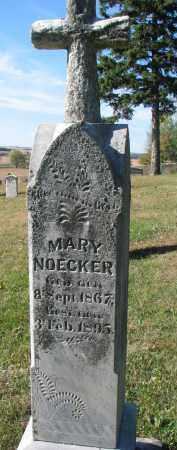 NOECKER, MARY - Cedar County, Nebraska   MARY NOECKER - Nebraska Gravestone Photos