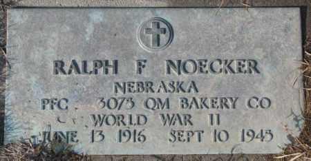 NOECKER, RALPH F. (WW II) - Cedar County, Nebraska | RALPH F. (WW II) NOECKER - Nebraska Gravestone Photos