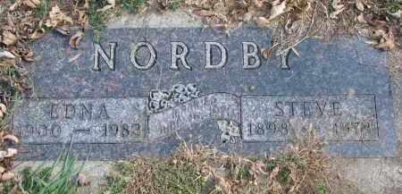 NORDBY, EDNA - Cedar County, Nebraska | EDNA NORDBY - Nebraska Gravestone Photos