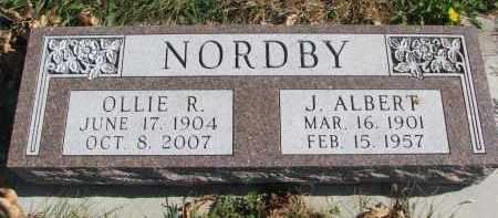 NORDBY, OLLIE R. - Cedar County, Nebraska   OLLIE R. NORDBY - Nebraska Gravestone Photos