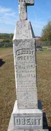 OBERT, AUGUST - Cedar County, Nebraska | AUGUST OBERT - Nebraska Gravestone Photos