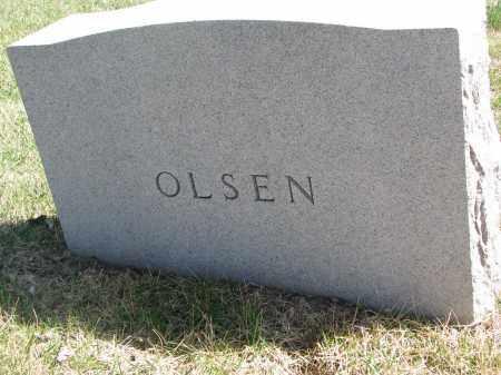 OLSEN, FAMILY STONE - Cedar County, Nebraska | FAMILY STONE OLSEN - Nebraska Gravestone Photos