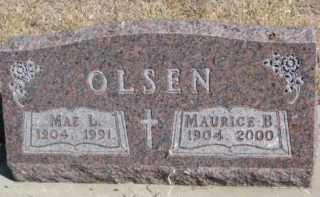 OLSEN, MAURICE B. - Cedar County, Nebraska   MAURICE B. OLSEN - Nebraska Gravestone Photos