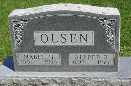 OLSEN, ALFRED R. - Cedar County, Nebraska | ALFRED R. OLSEN - Nebraska Gravestone Photos