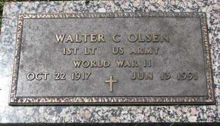 OLSEN, WALTER C. (WW II) - Cedar County, Nebraska | WALTER C. (WW II) OLSEN - Nebraska Gravestone Photos