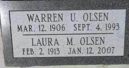 OLSEN, WARREN U. - Cedar County, Nebraska | WARREN U. OLSEN - Nebraska Gravestone Photos