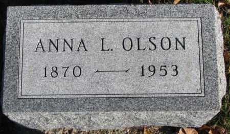 OLSON, ANNA L. - Cedar County, Nebraska | ANNA L. OLSON - Nebraska Gravestone Photos