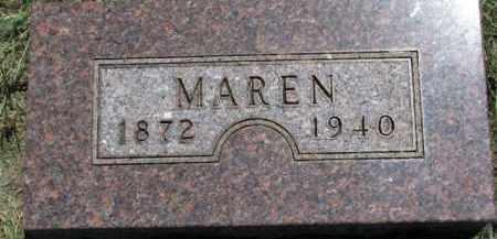 OLSON, MAREN - Cedar County, Nebraska | MAREN OLSON - Nebraska Gravestone Photos