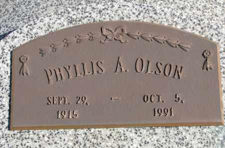 OLSON, PHYLLIS A. - Cedar County, Nebraska | PHYLLIS A. OLSON - Nebraska Gravestone Photos