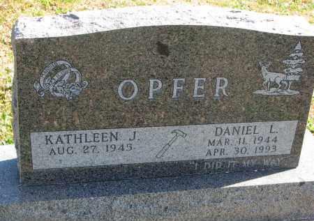 OPFER, DANIEL L. - Cedar County, Nebraska   DANIEL L. OPFER - Nebraska Gravestone Photos
