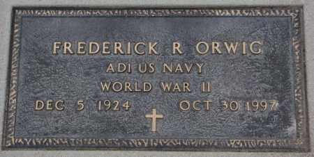 ORWIG, FREDERICK R. (WW II) - Cedar County, Nebraska | FREDERICK R. (WW II) ORWIG - Nebraska Gravestone Photos