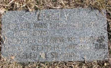 OSBORN, EMELY (FOOTSTONE INSCRIPTION) - Cedar County, Nebraska   EMELY (FOOTSTONE INSCRIPTION) OSBORN - Nebraska Gravestone Photos