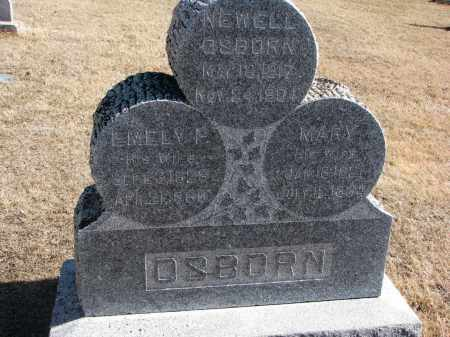 OSBORN, MARY - Cedar County, Nebraska | MARY OSBORN - Nebraska Gravestone Photos