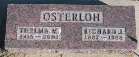 OSTERLOH, RICHARD J. - Cedar County, Nebraska | RICHARD J. OSTERLOH - Nebraska Gravestone Photos