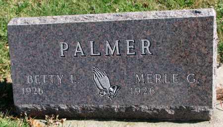 PALMER, BETTY L. - Cedar County, Nebraska   BETTY L. PALMER - Nebraska Gravestone Photos