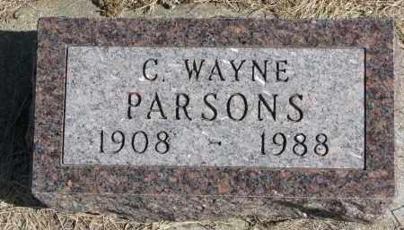 PARSONS, C. WAYNE - Cedar County, Nebraska | C. WAYNE PARSONS - Nebraska Gravestone Photos