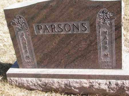 PARSONS, JAMES M. - Cedar County, Nebraska   JAMES M. PARSONS - Nebraska Gravestone Photos