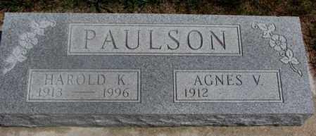 PAULSON, HAROLD K. - Cedar County, Nebraska | HAROLD K. PAULSON - Nebraska Gravestone Photos