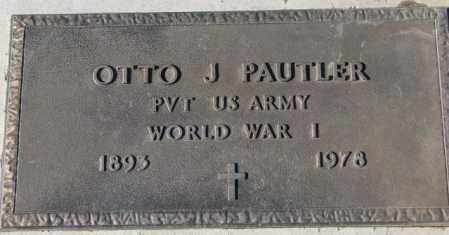 PAUTLER, OTTO J. (WW I) - Cedar County, Nebraska | OTTO J. (WW I) PAUTLER - Nebraska Gravestone Photos