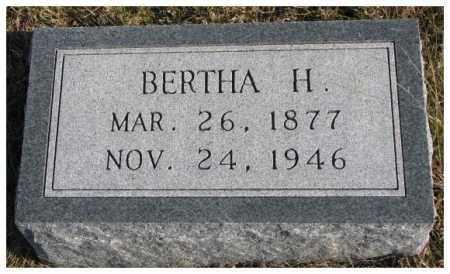 PECK, BERTHA H. - Cedar County, Nebraska   BERTHA H. PECK - Nebraska Gravestone Photos