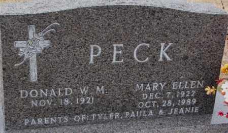 PECK, MARY ELLEN - Cedar County, Nebraska | MARY ELLEN PECK - Nebraska Gravestone Photos