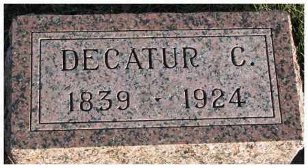 PECK, DECATUR C. - Cedar County, Nebraska   DECATUR C. PECK - Nebraska Gravestone Photos