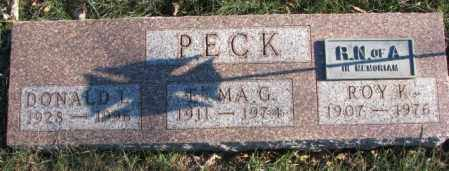 PECK, DONALD T. - Cedar County, Nebraska | DONALD T. PECK - Nebraska Gravestone Photos