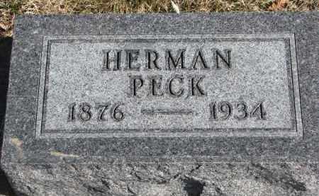 PECK, HERMAN - Cedar County, Nebraska | HERMAN PECK - Nebraska Gravestone Photos