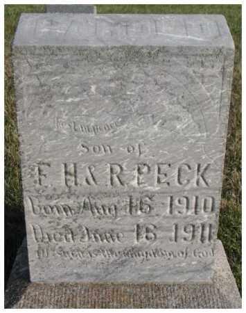 PECK, HAROLD - Cedar County, Nebraska   HAROLD PECK - Nebraska Gravestone Photos