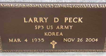PECK, LARRY D. (KOREA) - Cedar County, Nebraska | LARRY D. (KOREA) PECK - Nebraska Gravestone Photos
