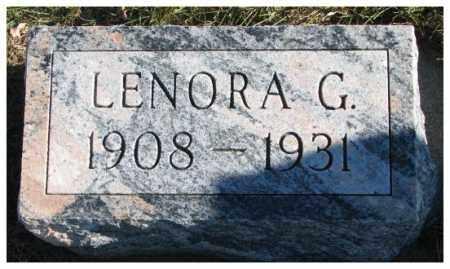 PECK, LENORA G. - Cedar County, Nebraska | LENORA G. PECK - Nebraska Gravestone Photos