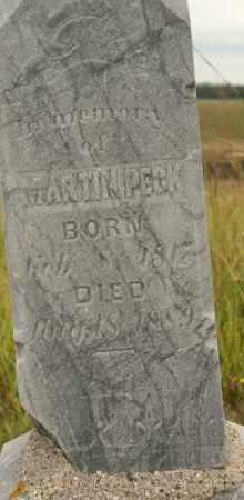 PECK, MARTIN - Cedar County, Nebraska   MARTIN PECK - Nebraska Gravestone Photos