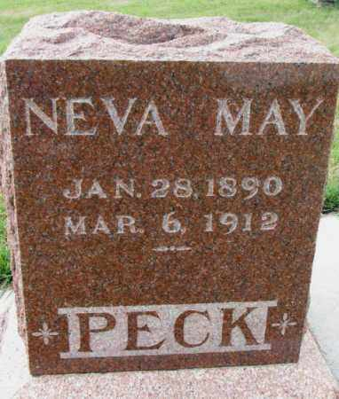 PECK, NEVA MAY - Cedar County, Nebraska | NEVA MAY PECK - Nebraska Gravestone Photos