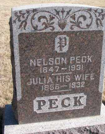 PECK, JULIA - Cedar County, Nebraska | JULIA PECK - Nebraska Gravestone Photos