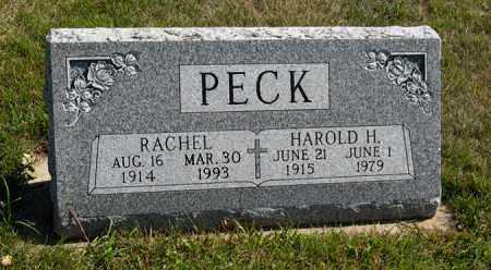 PECK, HAROLD H. - Cedar County, Nebraska | HAROLD H. PECK - Nebraska Gravestone Photos